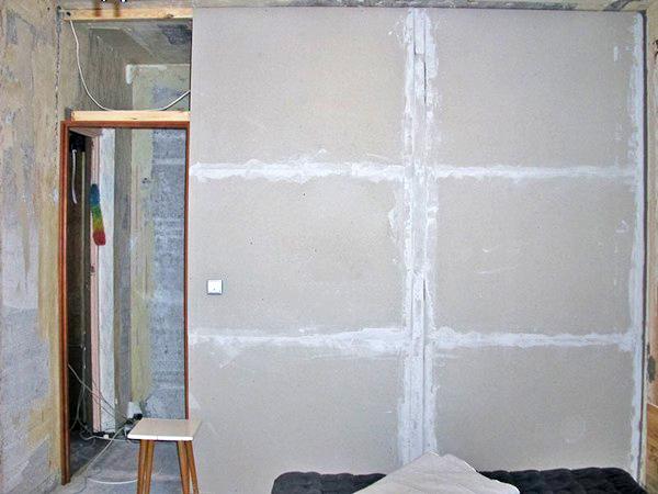 выравнивание стен в ванной гипсокартоном фото