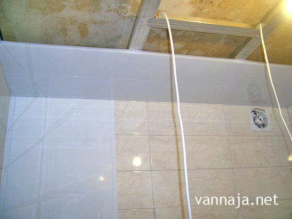 монтаж пластикового потолка в ванной своими руками фото