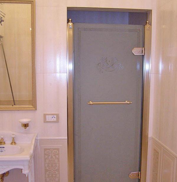 двери в ванную стеклянные фото