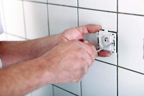 подключение стиральной машины в ванной к электрической сети