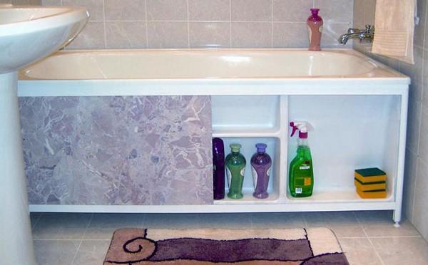 раздвижной экран под ванну фото