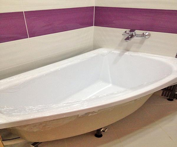 как правильно установить акриловую ванну фото
