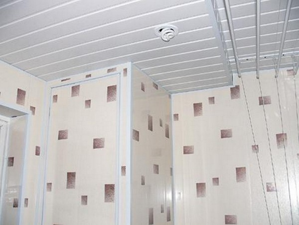 отделка ванной пластиковыми панелями фото