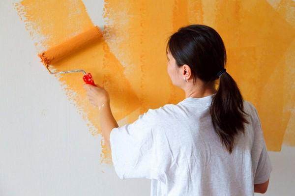 ремонт ванной комнаты покраска стен фото