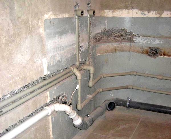 как заменить трубы в ванной фото