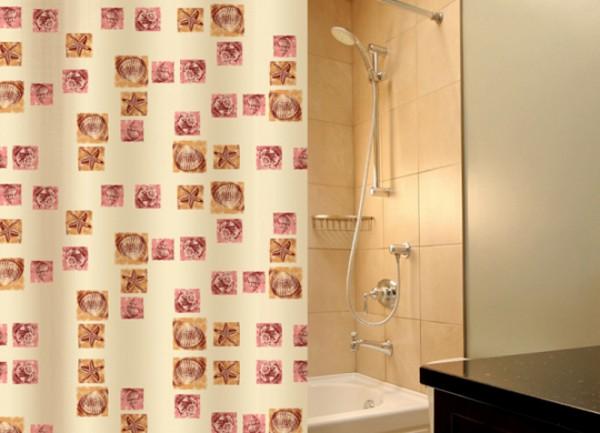 текстильные шторки для ванной фото