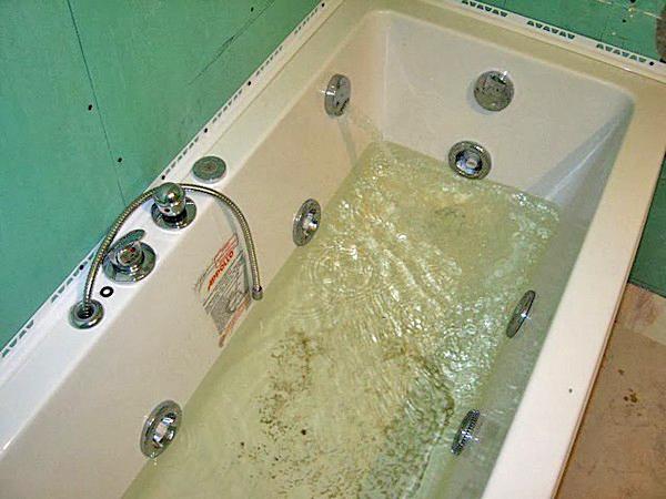 установка гидромассажной ванны фото