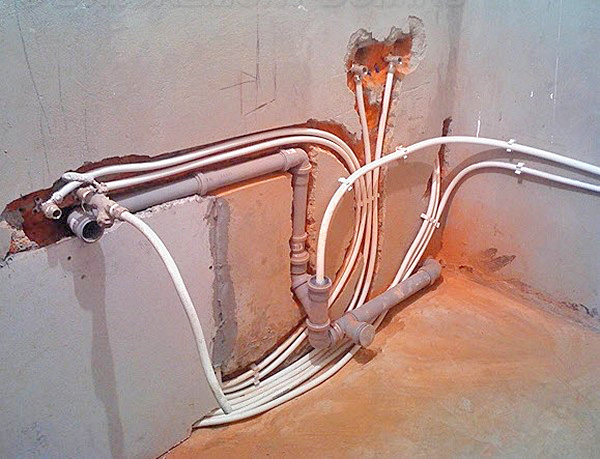 разводка водопровода своими руками фото