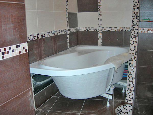 как установить акриловую ванну фото