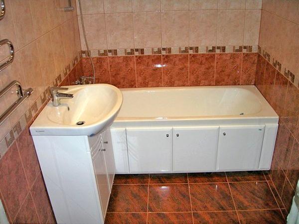 какие бывают размеры раковины в ванной