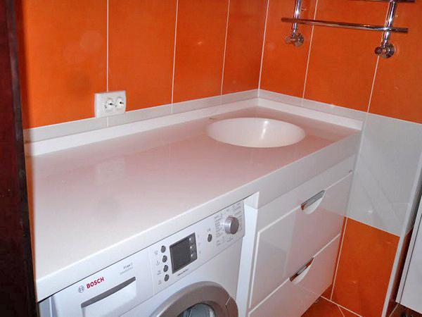столешница под раковину в ванную фото