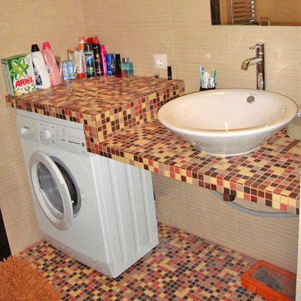 столешница для раковины в ванную фото