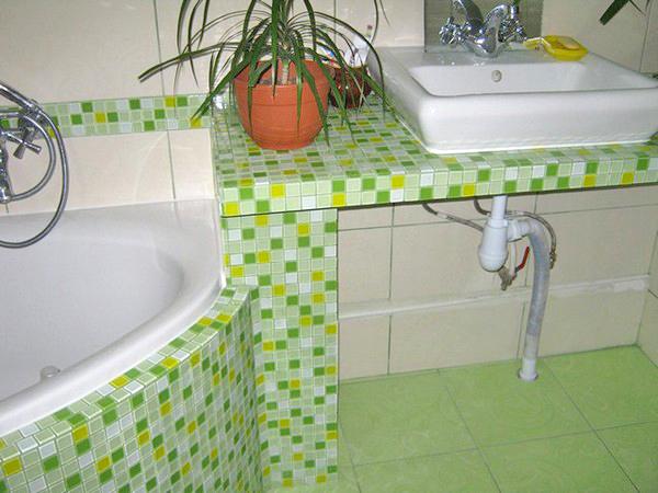 столешница в ванную своими руками фото