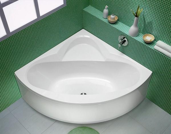 Ванна угловая: ее разновидности, преимущества и недостатки