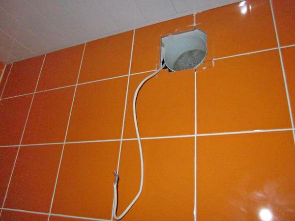 как установить вытяжку для ванной фото