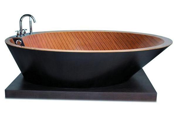 виды деревянных ванн