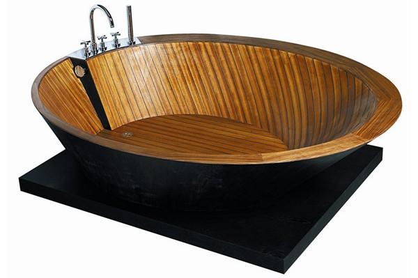 современная деревянная ванна фото