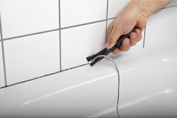 как удалить герметик с ванны фото