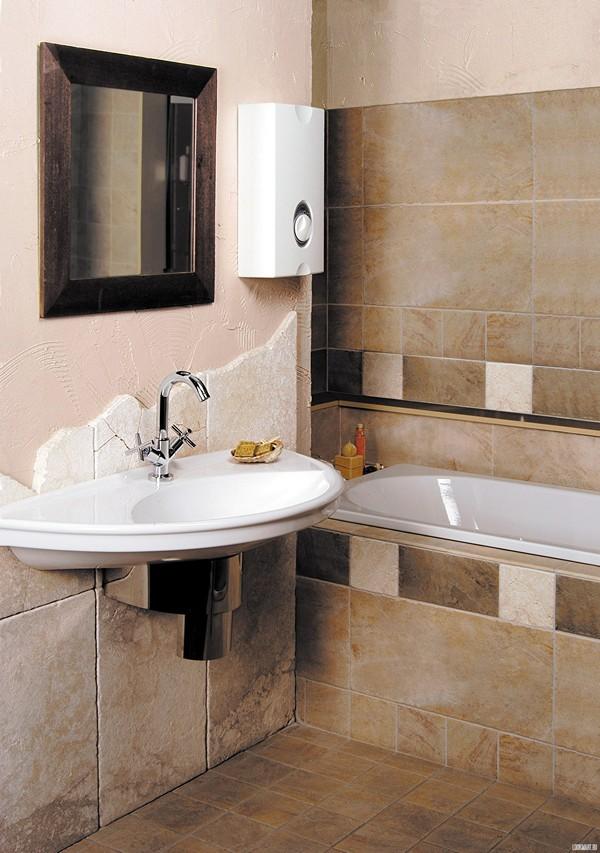 проточный водонагреватель в ванной фото