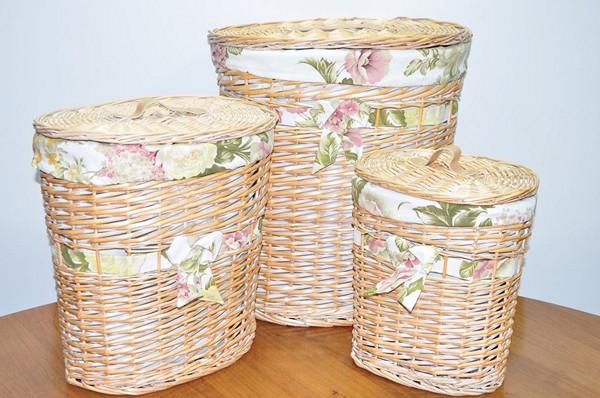 плетеные корзины для белья фото