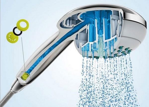 лейка для душа, экономящая воду фото