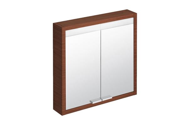 зеркальный навесной шкаф в ванную фото