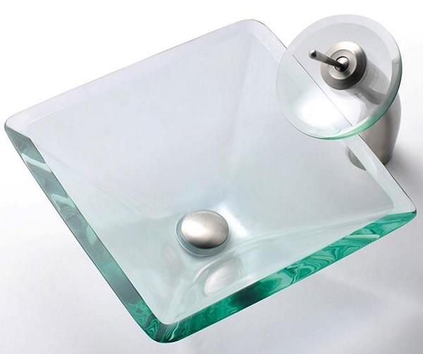 стеклянная раковина для ванной фото