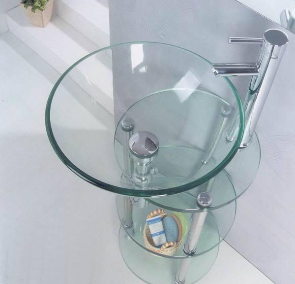стеклянная раковина преимущества и недостатки