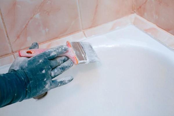 покраска ванны эмалью фото