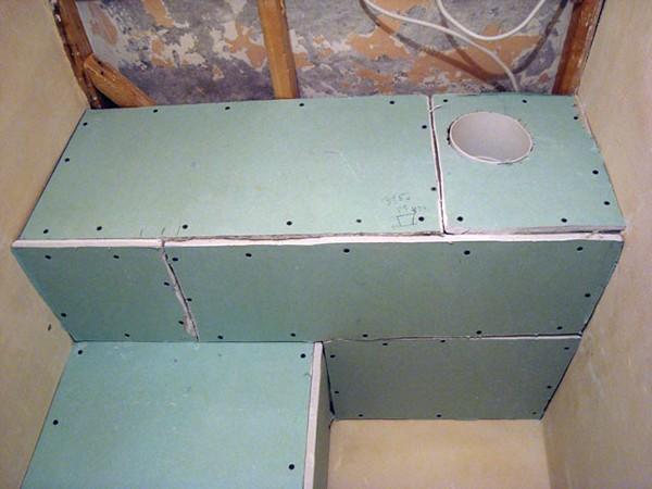 Короб для труб в ванной: технология изготовления пластиковой и гипсокартонной конструкции