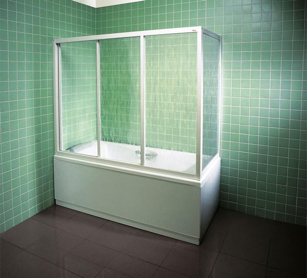 стеклянная штора в ванную комнату фото
