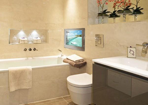 водонепроницаемый телевизор в ванную фото