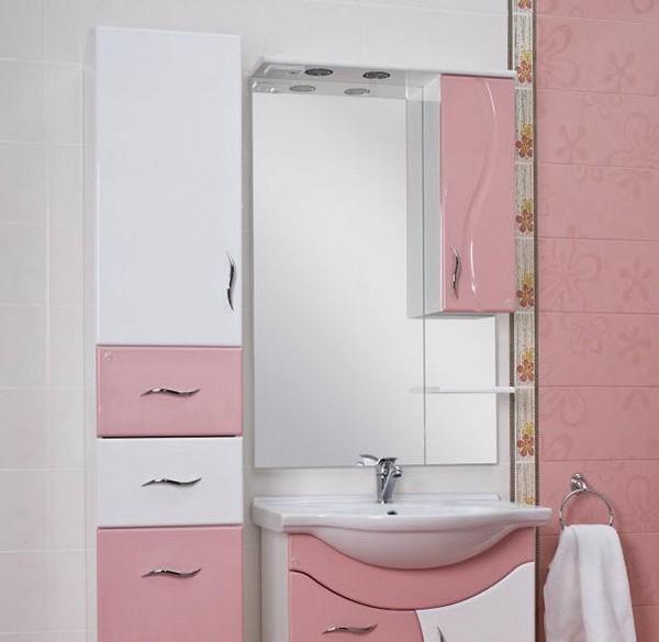 пенал с зеркалом для ванной фото