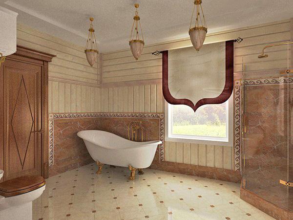 пол ванной в деревянном доме фото
