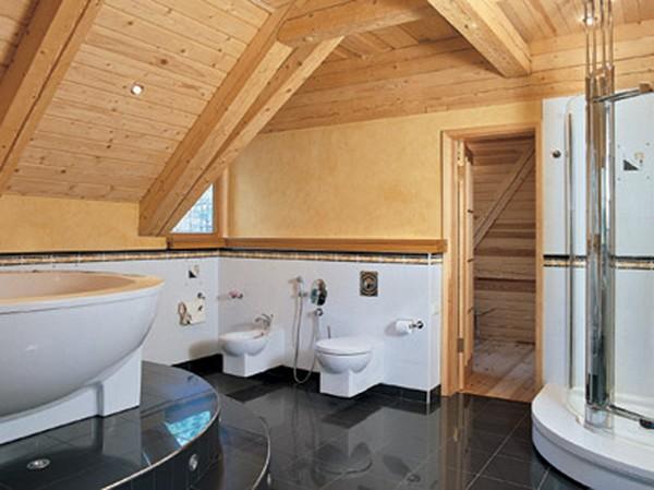 какой сделать ремонт ванной в деревянном доме