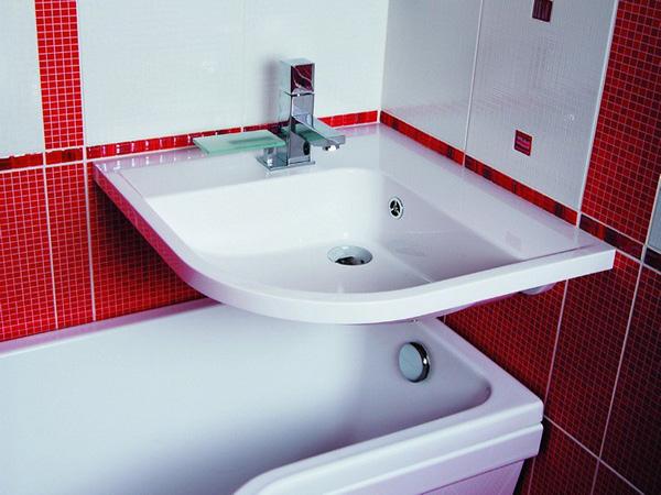 угловой умывальник для ванной фото