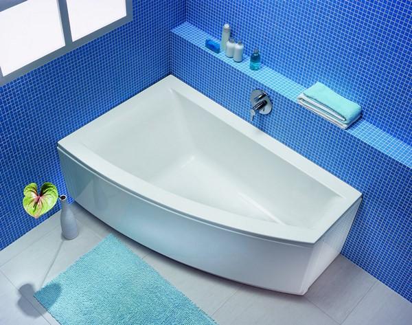 угловая ассиметричная акриловая ванна фото