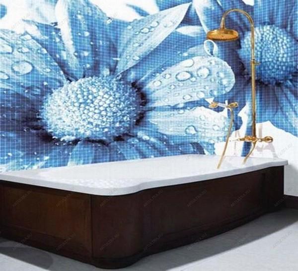 дизайн кафельной плитки в ванной фотопечать