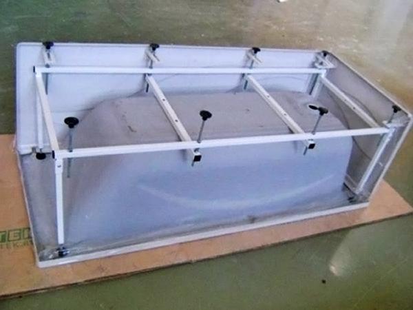 как сделать каркас для ванны фото