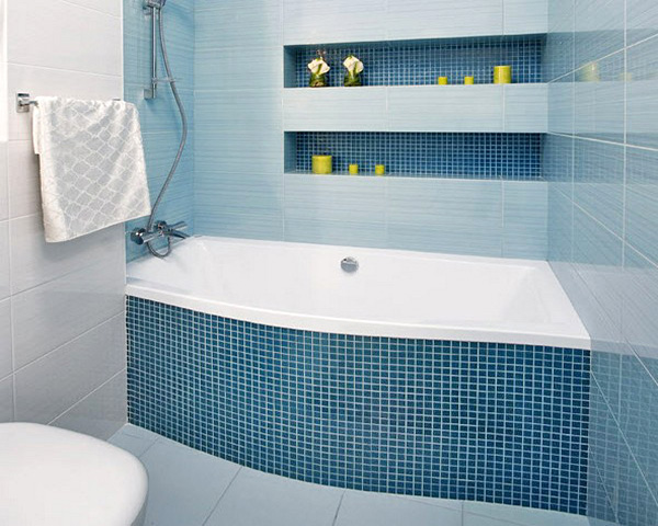 отделка ниши кафелем в ванной фото