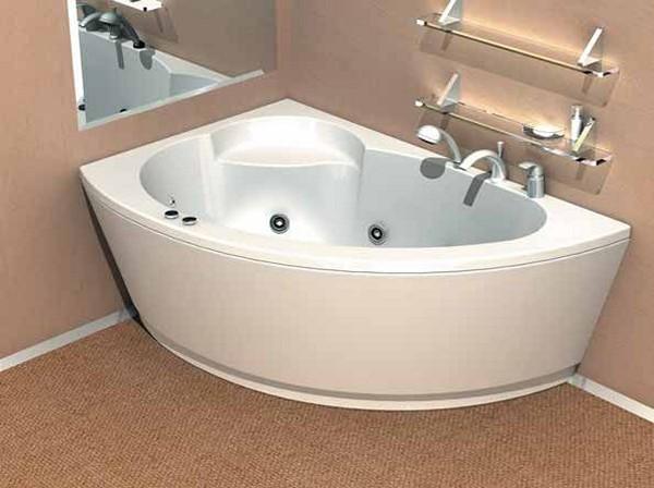 размеры угловой ассиметричной ванны