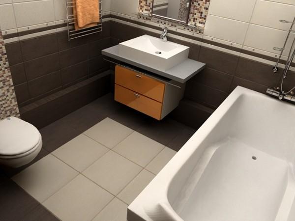 плитка на полу в ванной комнате фото