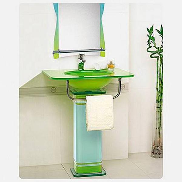 стеклянная раковина тюльпан для ванной фото