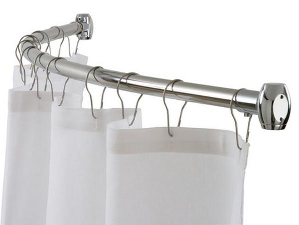 штанга для шторы в ванную фото