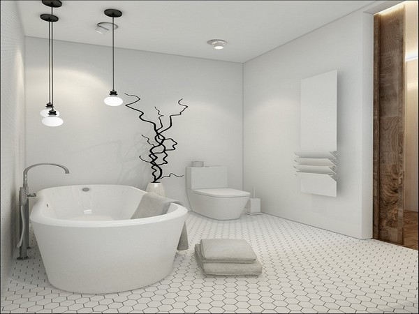 Белая ванная комната: дизайнерские приемы оформления