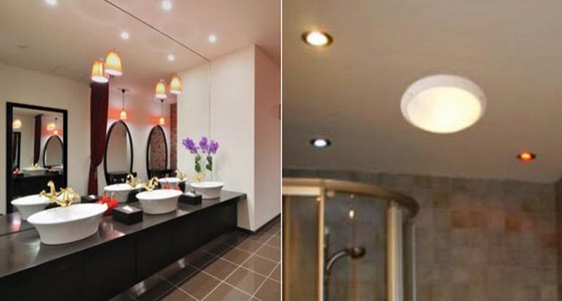 потолочные накладные светильники для ванной  фото