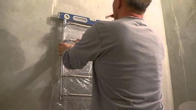 заменить полотенцесушитель в ванной фото