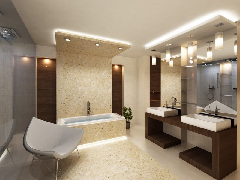 освещение в ванной своими руками фото