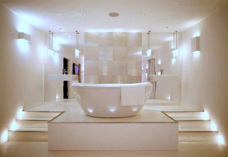 правильное освещение в ванной фото