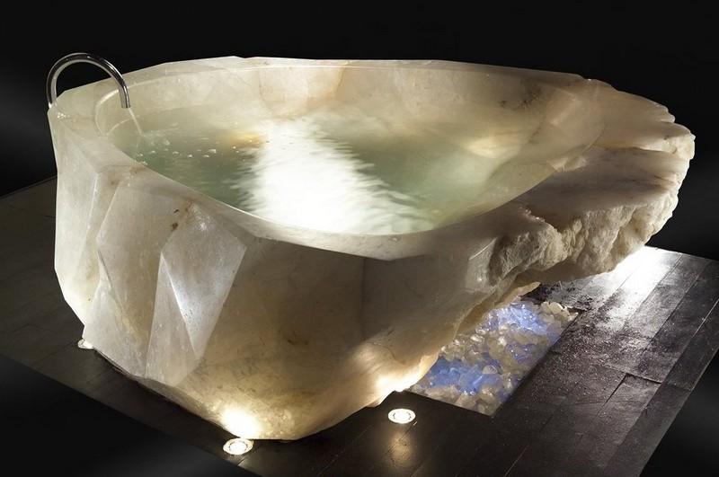 ванна в ванную комнату из искусственного камня фото